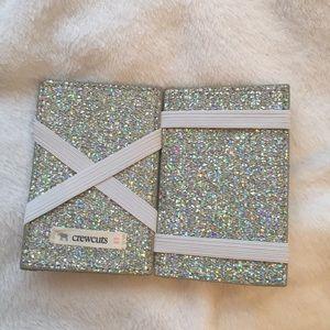 j crew glitter card holder